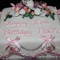 Ladies 70th Birthday Mum Cake